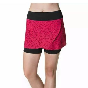 Skirt Sports Hover running skort pink bubble print
